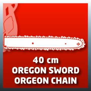 Einhell Elektro Kettensäge GH-EC 2040 (2000 Watt, 375 mm Schnittlänge, Oregon Kette und Qualitätsschwert, Rückschlagschutz und Kettenfangbolzen) - 2