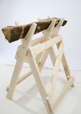 Profi-Sägebock aus Massiv-Holz - 1