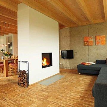 Relaxdays Kaminholzregal, Holzscheite Stapelhilfe, aus Stahl, innen und außen, Brennholzregal, HxB 100x40 cm, anthrazit - 2